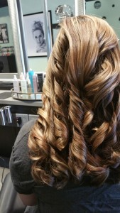 Curls bring out the beauty of your highlights